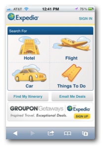 Expedia Great Mobile Experience