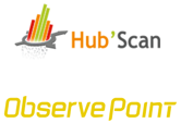 ObservePoint and Hub'Scan Logos