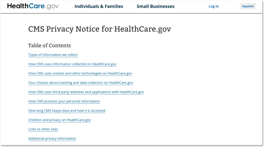 CMS Privacy Policy