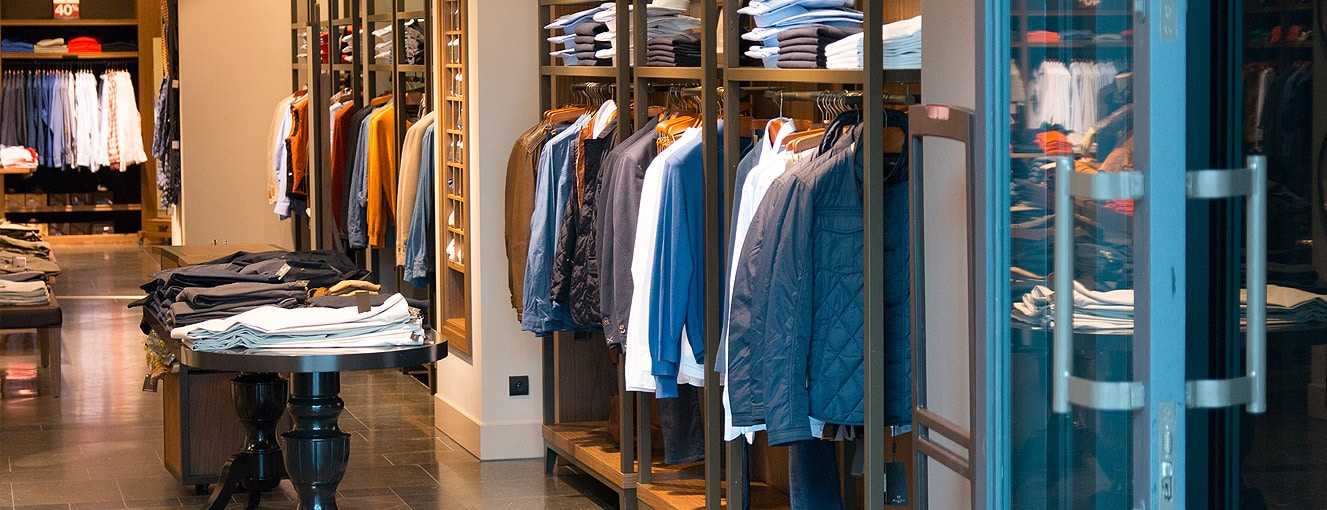 retail clothing store interior