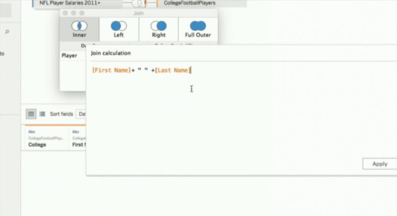 Tableau create feature calculation screenshot