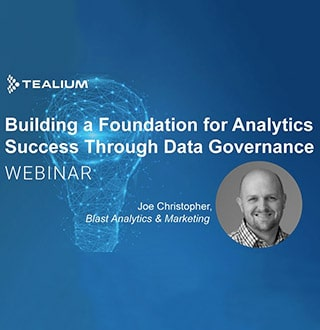 joe christopher discussing data governance