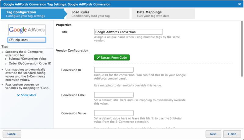 screenshot of tealium tag marketplace code extract