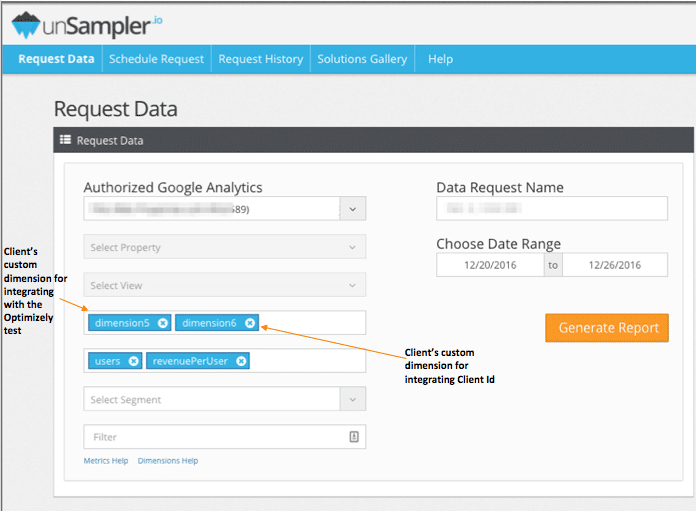 screenshot of workaround for sampled data in google analytics