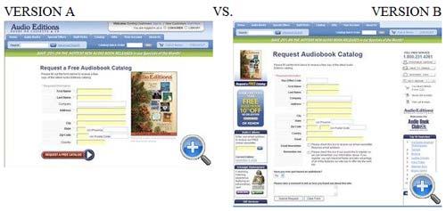 Audio Editions A/B Split Test